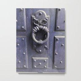 Porte ancienne Parisienne  - door paris - am - moyen âge  Metal Print