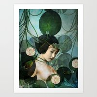 tangled Art Prints featuring Tangled by Catrin Welz-Stein