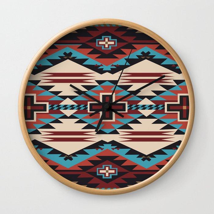 American Native Pattern No. 67 Wall Clock