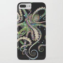 Octopsychedelia (black) iPhone Case
