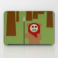 ewok iPad Cases featuring Wicket the Ewok- Tree Hugger by Robin Stevens