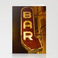 bar Stationery Cards featuring Bar by Joseph Skompski