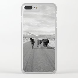Spring Mountain Wild Horses Clear iPhone Case