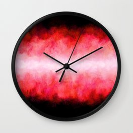 Red Black Fireworks Wall Clock