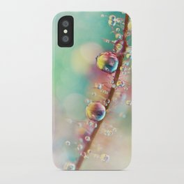 Rainbow Smoke Drops iPhone Case