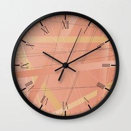 Criss Cross Background Wall Clock