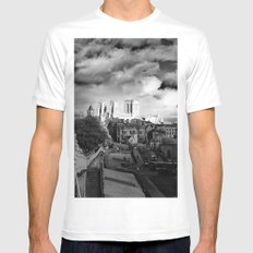 York Minster and walls in the sun Mens Fitted Tee MEDIUM White