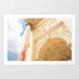 Parisian Columns Art Print