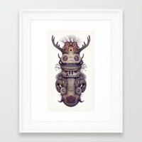 totem Framed Art Prints featuring Totem by Diligence