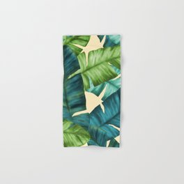 Tropical Banana Leaves Original Pattern Hand & Bath Towel