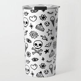 Doodle Pattern Travel Mug