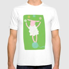 sheep playing White Mens Fitted Tee MEDIUM