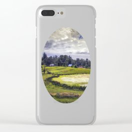 August Pond Clear iPhone Case