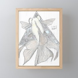 Goldfish and Flowers Framed Mini Art Print