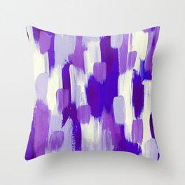 Purple Cora Throw Pillow