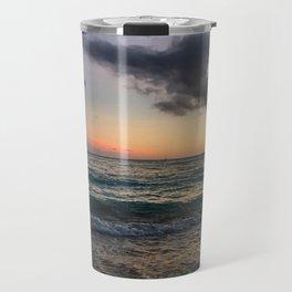 Waikiki Beach at Dusk Sunset Travel Mug