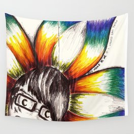 """""""This Would Be Me If I Looked Like This"""" Flowerkid Wall Tapestry"""