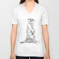 roman V-neck T-shirts featuring Peerkat   Roman by Beth Steinbauer