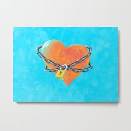 Chained Heart Metal Print