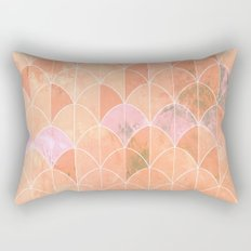 Mermaid scales. Peach and pink watercolors. Rectangular Pillow