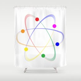 LGBT Whirling Atoms Shower Curtain