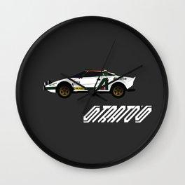 Lancia Stratos Rally Wall Clock