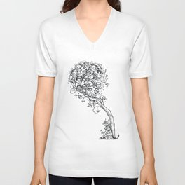 The Story Of Ferdinand (Psychedelic Bull Drawing) Unisex V-Neck
