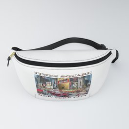 Times Square II (widescreen poster on white) Fanny Pack