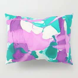 Waiting to Bloom, Original Abstract Marble Painting Pillow Sham