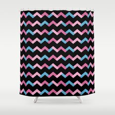 Geometric Chevron Shower Curtain