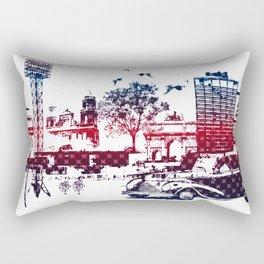 Fantasy city Rectangular Pillow