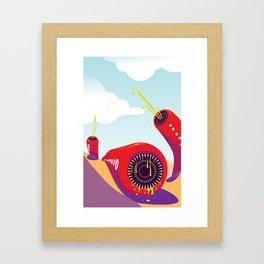 Mongolian Death Worm Framed Art Print