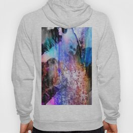Technocolor abstract grunge Hoody