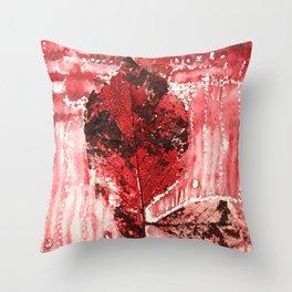 Bloody Leaf 2 Throw Pillow
