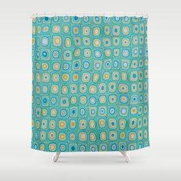 Yellow Blue Shower Curtain