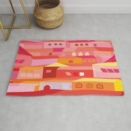 Houses Pattern Rug