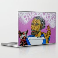 bukowski Laptop & iPad Skins featuring Bukowski by Pluto00Art / Robin Brennan