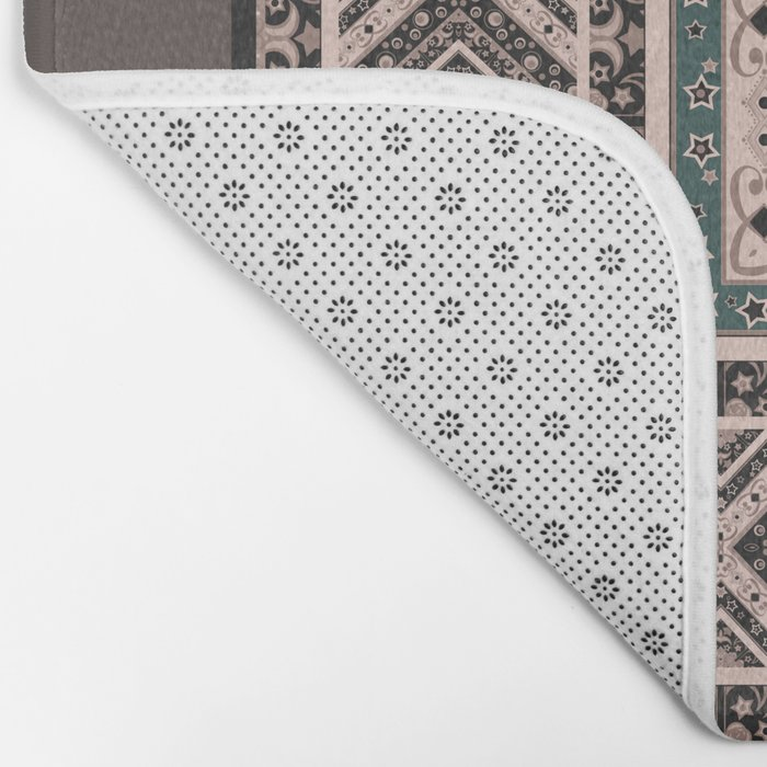 National classic abstract pattern retro print Bath Mat