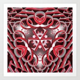 Created with Love Art Print