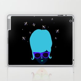 Retro lady with a beehive hairdo Laptop & iPad Skin
