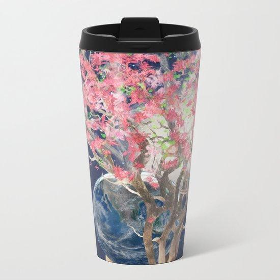 Love Makes The Earth Bloom Metal Travel Mug