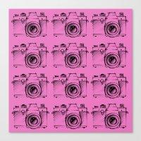 cameras Canvas Prints featuring Cameras by Le Arcara
