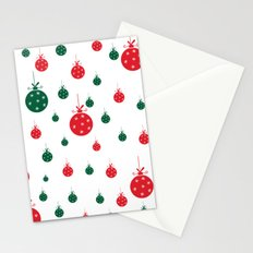 Chistmas balls Stationery Cards