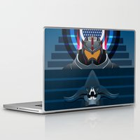 pacific rim Laptop & iPad Skins featuring Pacific Rim, Jaws edition by milanova