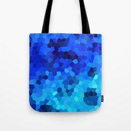 Ocean Blue Mosaic Pattern Tote Bag