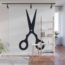 Simple Black Scissors Wall Mural