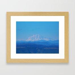 Mount Rainer Framed Art Print
