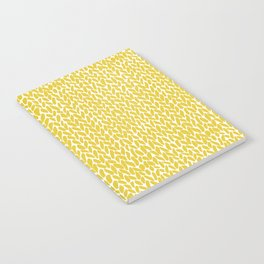 Hand Knit Yellow Notebook