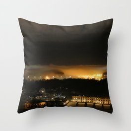 Captured and Claimed Light by the City at Night Throw Pillow
