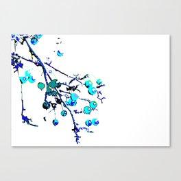 Blue Branch Canvas Print